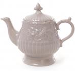 Чайник заварочный Leeds Розы 1300мл, бежевая керамика