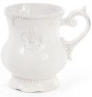 Кружка Leeds Королевская Лилия 375мл, белая керамика