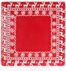"""Набор 3 керамические тарелки Red Ceramics """"Новогодние"""" 26х26х3см"""