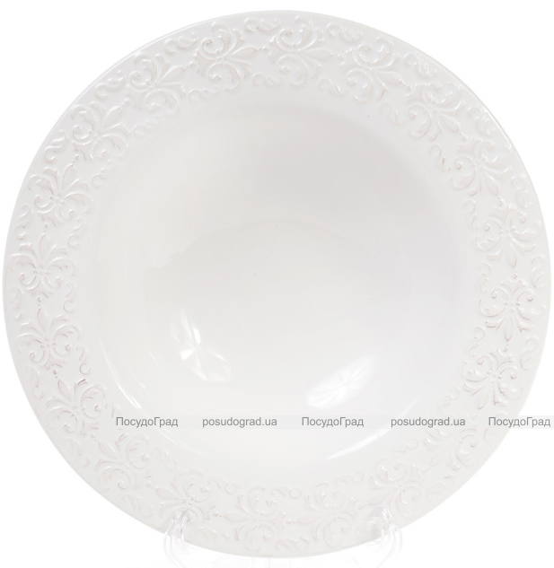 Набор 3 суповые тарелки Leeds Королевская Лилия, керамика Ø22.8см