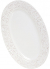 Блюдо керамическое Leeds Королевская Лилия 40.5х25.7х3см, овальное