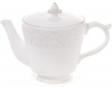 Чайник заварювальний Leeds Королівська Лілія 900мл, біла кераміка