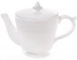 Чайник заварочный Leeds Королевская Лилия 900мл, белая керамика