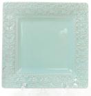 Блюдо керамическое Leeds Королевская Лилия 23.1х23.1х2.2см, зеленое