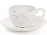 """Чайно-кофейный набор Leeds Птицы 4 чашки 200мл с блюдцами, """"винтажная"""" керамика"""