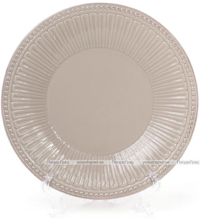 Набор 3 обеденные тарелки Stone Flower Ø25см, бежевые