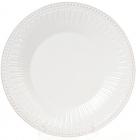 Набор 3 обеденные тарелки Stone Flower Ø25см, белые