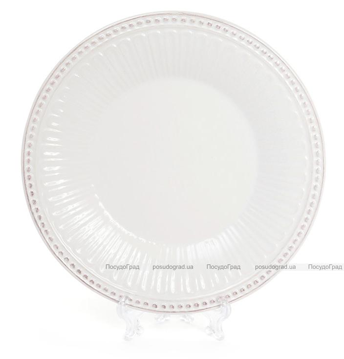 """Набор 4 обеденные тарелки Stone Flower Ø20.2см, """"винтажная"""" керамика"""