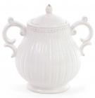 Сахарница керамическая Stone Flower 300мл, белая