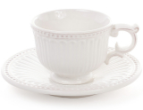 Чайно-кофейный набор Stone Flower 4 чашки 200мл и 4 блюдца, белый