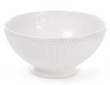 Набір 4 керамічні піали (миски) Stone Flower 750мл, білі