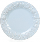 """Набір 3 тарілки """"Морський Бриз"""" Ø25.6см, обідні, блакитна кераміка"""