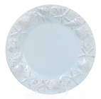 """Набор 4 тарелки """"Морской Бриз"""" Ø20.5см, обеденные, голубая керамика"""