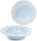"""Набор 3 тарелки """"Морской Бриз"""" Ø23.5см, суповые, светло-голубая керамика"""