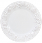"""Набор 3 тарелки """"Морской Бриз"""" Ø25.6см, обеденные, белая керамика"""