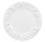 """Набор 4 тарелки """"Морской Бриз"""" Ø20.5см, обеденные, белая керамика"""