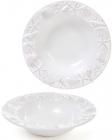 """Набор 3 тарелки """"Морской Бриз"""" Ø23.5см, суповые, белая керамика"""
