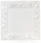 """Блюдо керамическое """"Морской Бриз"""" 26х26х2.4см, белое"""