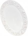 """Блюдо керамічне """"Морський Бриз"""" овал, 39.7х27.1х2.5см, біле"""