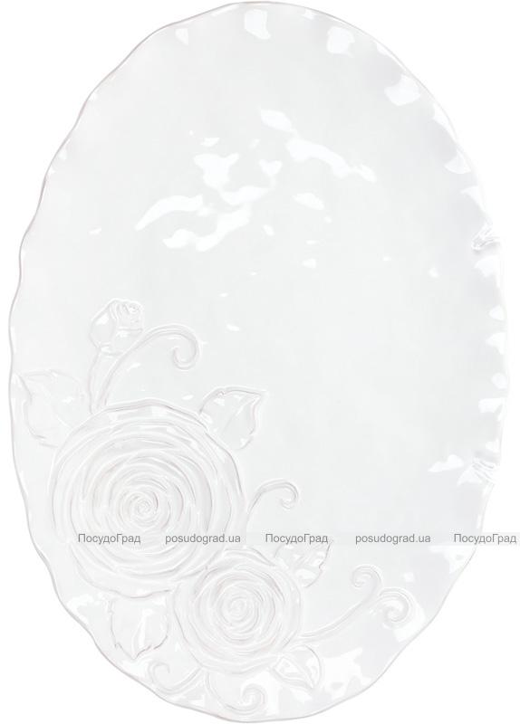 Блюдо сервіровочне Аеліта 41.1х28.5х2.8см овальне, кераміка