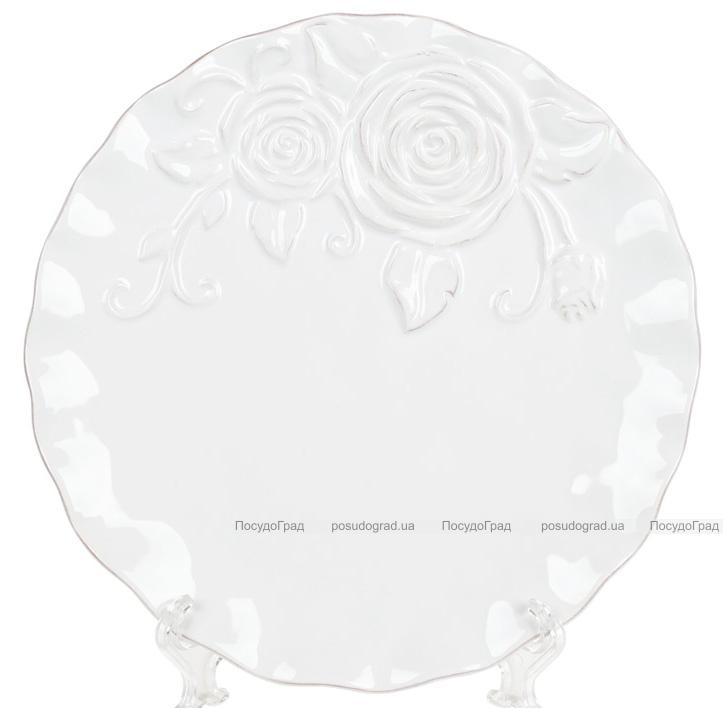 Набор 4 обеденных тарелки Аэлита Ø21см, керамика