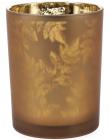 """Підсвічник скляний """"Листя"""" 10х12.5см, коричневий"""