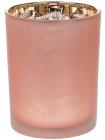 """Підсвічник скляний """"Папороть"""" 10х12.5см, рожевий"""