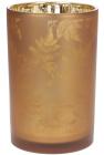 """Підсвічник скляний """"Листя"""" 12х18см, коричневий"""