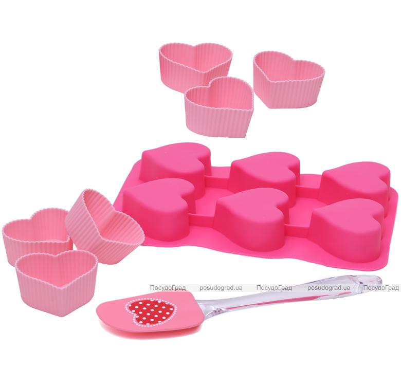 Набор для выпечки Love Menu 12 сердечек и лопатка