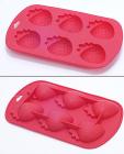 Силіконова форма для льоду Strawberry з підсилювачем 19х12х3см