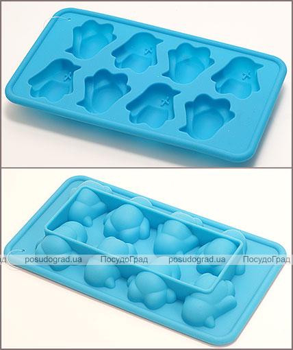 Силиконовая форма для льда с усилителем Penguins 20х11х3см
