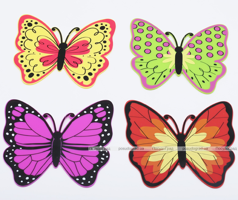 Подставка под горячее Бабочка 20x19см, силиконовая