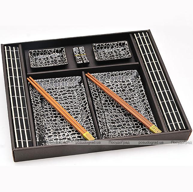 Набор для суши Iwaki Black 10 предметов