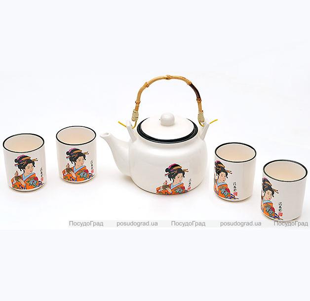 """Набор Iwaki """"Гейша"""" для чайной церемонии, 5 предметов на 4 персоны"""