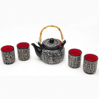 """Набір Iwaki """"Black"""" для чайної церемонії, 5 предметів на 4 персони"""