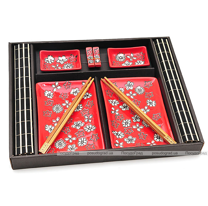 Набор для суши Iwaki Red 10 предметов