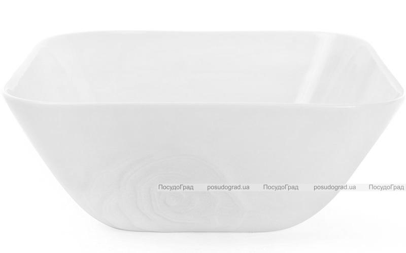 """Большой фарфоровый салатник """"White Rose"""" квадратный 2.8л (белый фарфор)"""