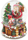 """Декоративний водяний шар """"Санта з подарунками"""" 20см, музичний"""