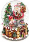 """Декоративный водяной шар """"Санта с подарками"""" 20см, музыкальный"""