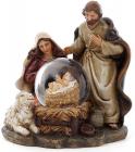 """Рождественская композиция """"Святое семейство"""" с водяным шаром, 11.5см"""