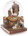 """Водяна куля """"Святе сімейство"""" різдвяний декор з музикою 15.5"""