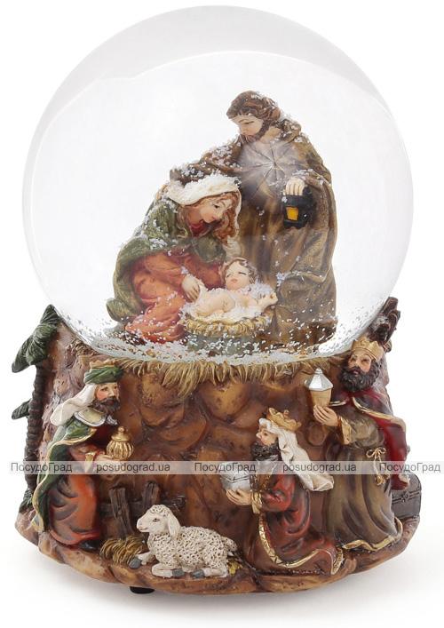 """Водяной шар """"Святой обряд"""" рождественский декор с музыкой 14.5"""