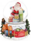 """Декоративний водяний шар """"Санта з подарунками"""" 14.5см, музичний"""