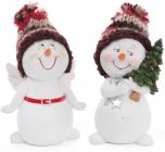 """Статуэтка """"Снеговик в вязаной шапке"""" 11.5см"""