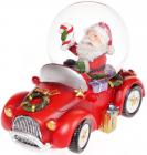 """Декоративний водяний шар """"Санта в автомобілі"""" 9см"""