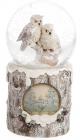 """Декоративный водяной шар """"Скандинавские совы"""" 15см с LED-подсветкой"""