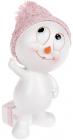 """Статуетка """"Сніговик в рожевій шапці"""" 14.5см"""