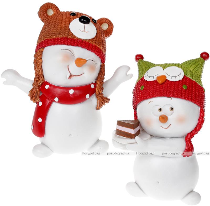 """Статуэтка """"Снеговик в шапочке"""" 11.8см"""