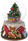 """Декоративний водяний шар """"Ялинка з подарунками"""" 15см, музичний"""