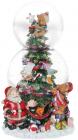 """Декоративний водяний шар """"Різдвяна ялина"""" 20.5см, музичний"""
